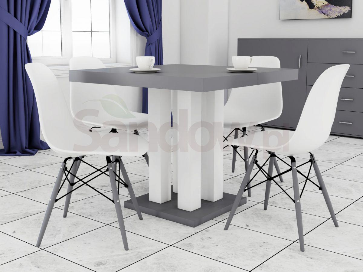 Rozkładany Stół Igor 90x90 Do 225 4 Krzesła K 87 Producent